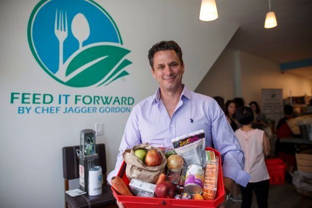Chef Jagger Gordon is photographed at the Feed it Forward's Pay-what-you-can grocery store grand opening...