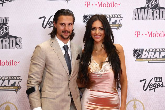 Erik Karlsson and his wife Melinda attend the 2017 NHL Awards at T-Mobile Arena on June 21, 2017 in Las...
