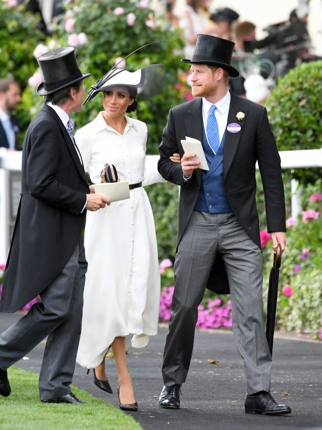 The Duke and Duchess of Sussex attend Royal Ascot Day 1 at Ascot Racecourse on June