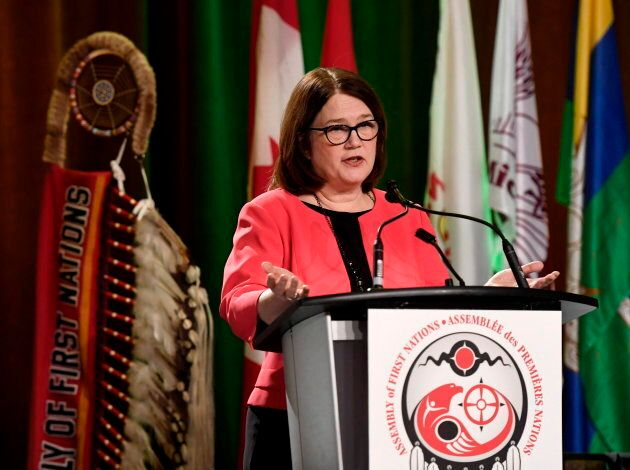 Minister of Indigenous Services Jane Philpott speaks at the Assembly of First Nations Special Chiefs...