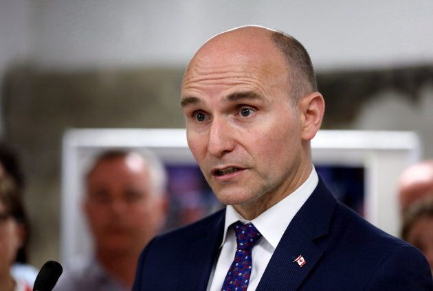 Federal Minister of Families, Children and Social Development Jean-Yves Duclos is seen at a youth homelessness...