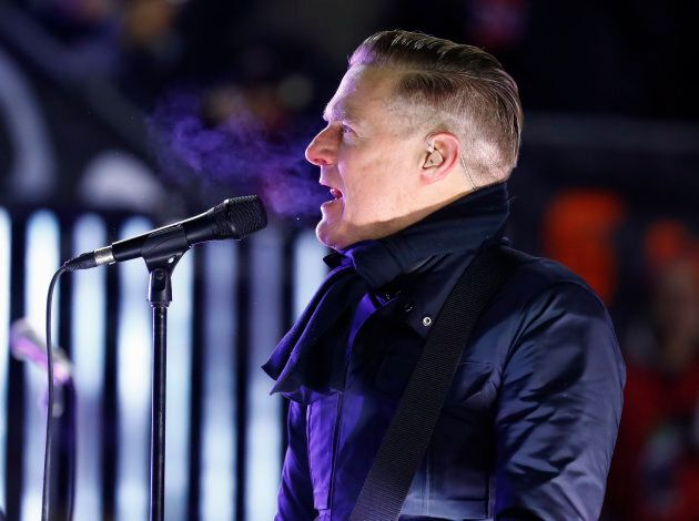 Bryan Adams performs during the second intermission of the 2017 Scotiabank NHL 100 Classic on December...