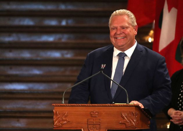Doug Ford is sworn in as the 26th Premier of Ontario by the Honourable Elizabeth Dowdeswell, Lieutenant...