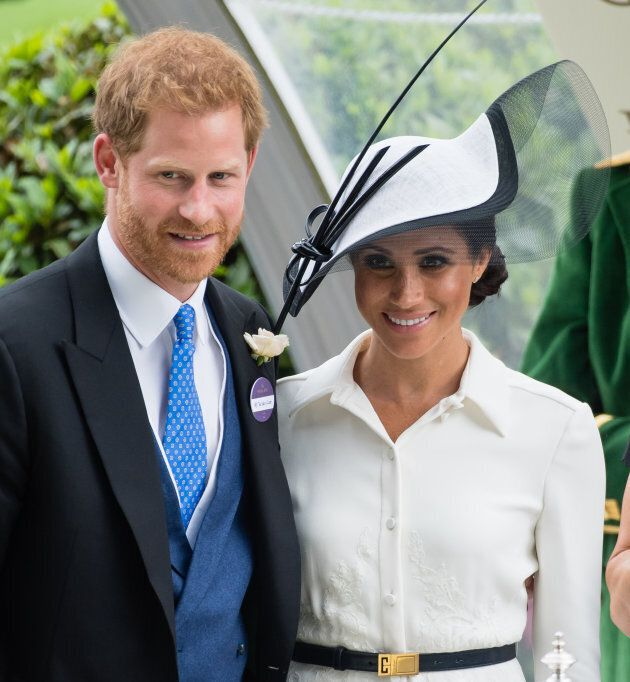The Duke and Duchess of Sussex attend Royal Ascot Day 1 on June 19,