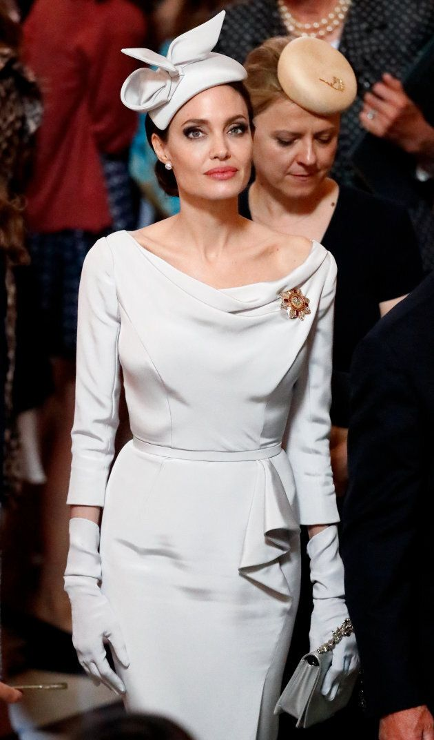 Angelina Jolie at the royal service at St Paul's Cathedral on June 28, in London.