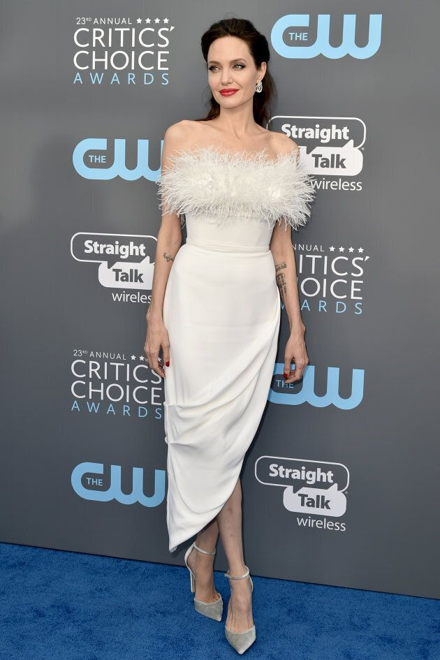 Angelina Jolie at the 23rd Annual Critics' Choice Awards on January 11, 2018 in Santa Monica,