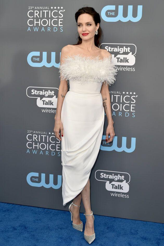 Angelina Jolie at the 23rd Annual Critics' Choice Awards on January 11, 2018 in Santa Monica, California.