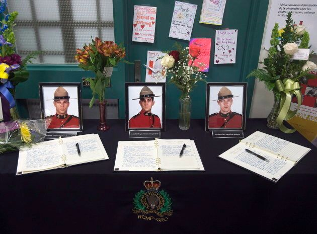 Books of condolence for Const. Fabrice Georges Gevaudan, Const. Douglas James Larche and Const. David...
