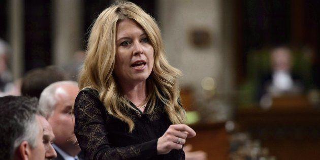 Conservative MP Michelle Rempel stands during question period in the House of Commons on Parliament Hill...