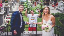 Adam Sandler Surprises Montreal Newlyweds With