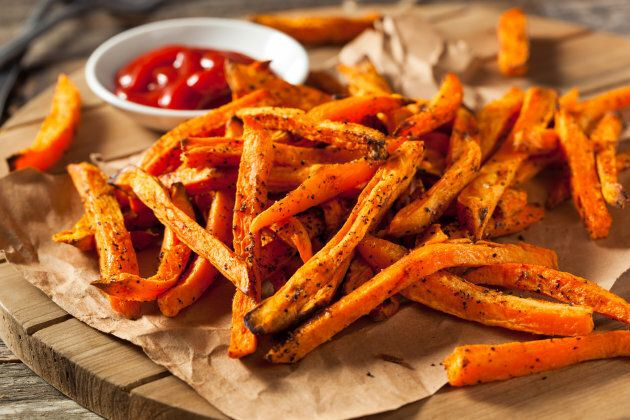 Ditch the regular fries for nutrient-packed baked sweet potato
