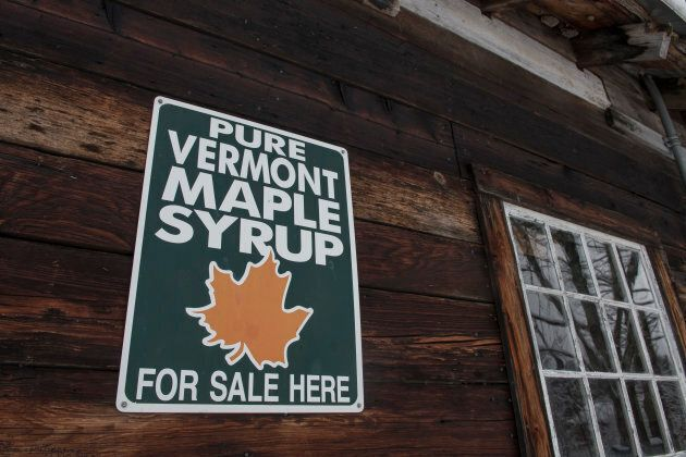 File photo of the Green Mountain Audubon center on March 8, 2018 in Huntington, Vermont. On Sunday, Canada will levy a 10 per cent surtax on maple syrup imported from the states.