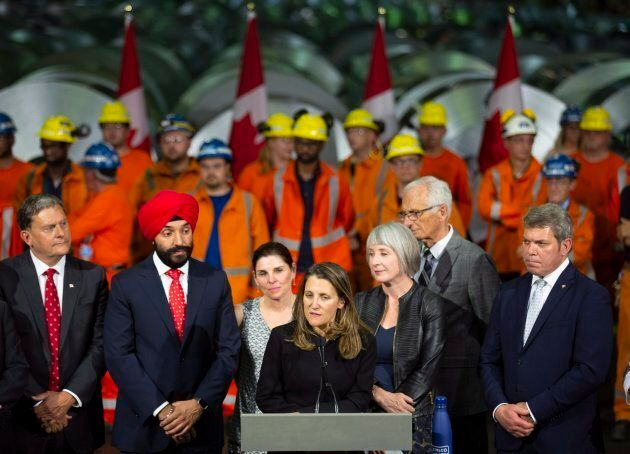 Chrystia Freeland, Minister of Foreign Affairs, visited Stelco in Hamilton Ont. on June 29,