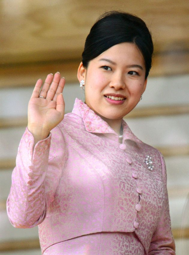 Princess Ayako waves to well-wishers during a public appearance at the Imperial Palace in Tokyo in January