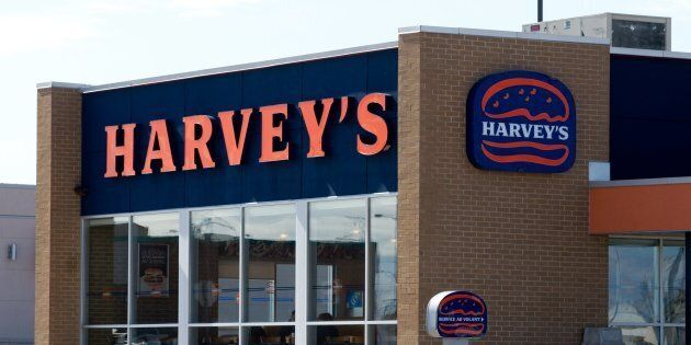 A Harvey's fast-food restaurant is pictured in Quebec. Parent company Recipe Unlimited hopes to offer...