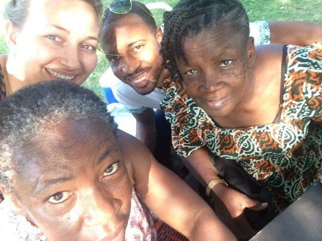 Clockwise from top left: Jared's wife Miranda, Jared A. Walker, Maizel Hyde-Sinclair, and Nellrene Walker on Maizel's most recent trip to Canada.