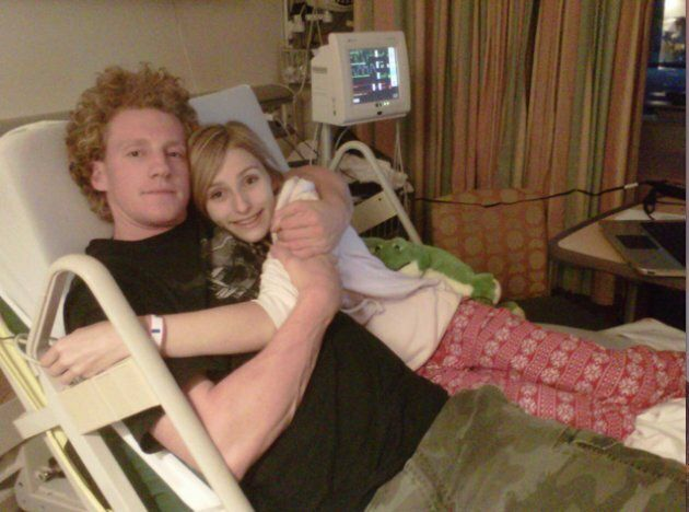 Alexandria poses with her brother, about two weeks into her hospitalization for anorexia and