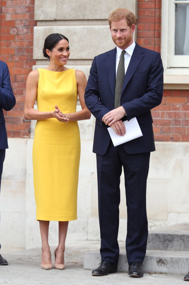 The Duke and Duchess of Sussex attend the Your Commonwealth Youth Challenge reception in London on July...