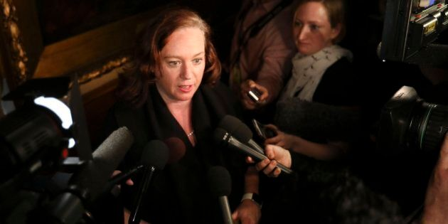 Lisa MacLeod speaks to the media at Queen's Park on Jan. 26,