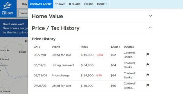 Houses listed on U.S. site Zillow come with a history of previous listings and asking prices. Canadian...