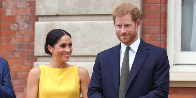 The Duke and Duchess of Sussex attend the Your Commonwealth Youth Challenge reception in London on July 05, 2018.