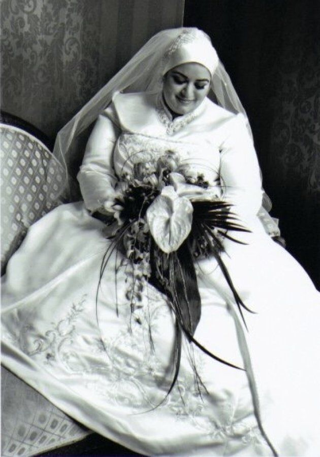 Aseel Ahmad on her wedding day on June 13,