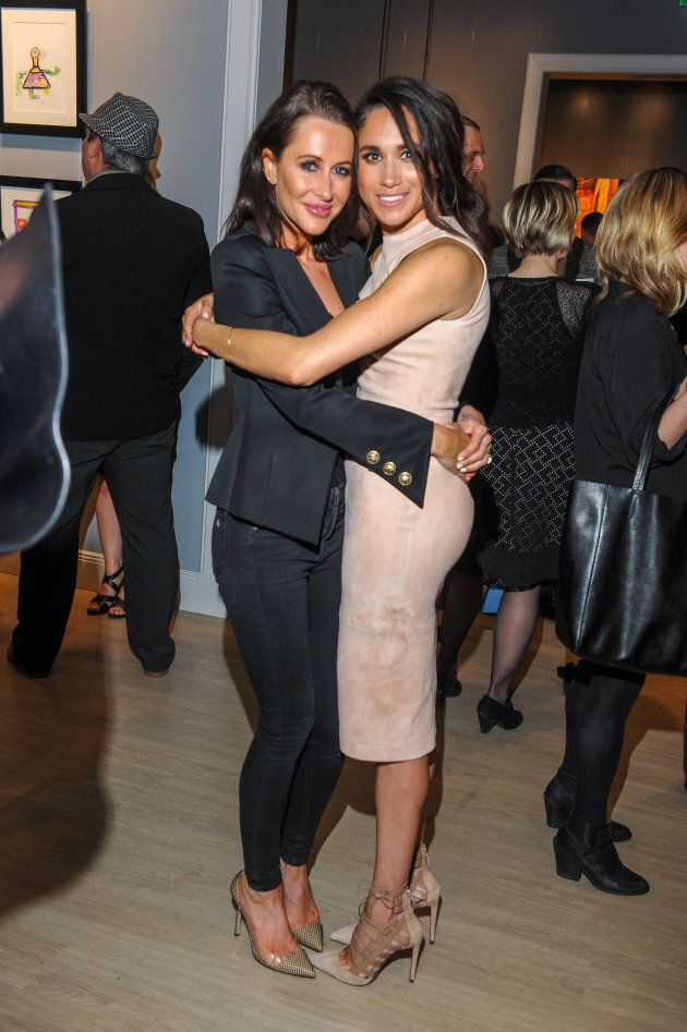 Jessica Mulroney and Meghan Markle attend a World Vision event in Toronto on March 22,