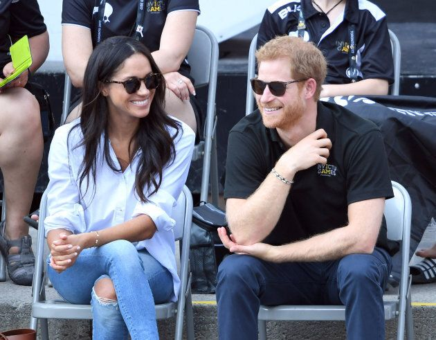 Meghan Markle and Prince Harry at the 2017 Invictus Games in Toronto on Sept. 25, 2017.