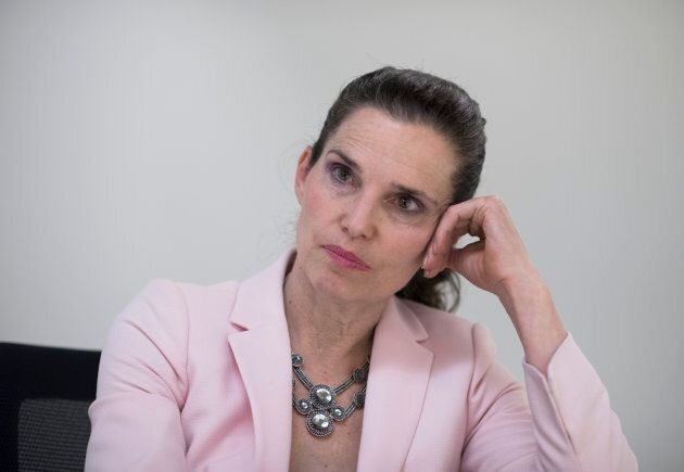 Kirsty Duncan, the federal Minister of Science, is photographed during an interview after a tour of the...
