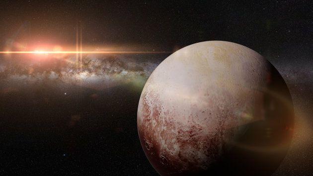 Artist's illustration of Pluto.