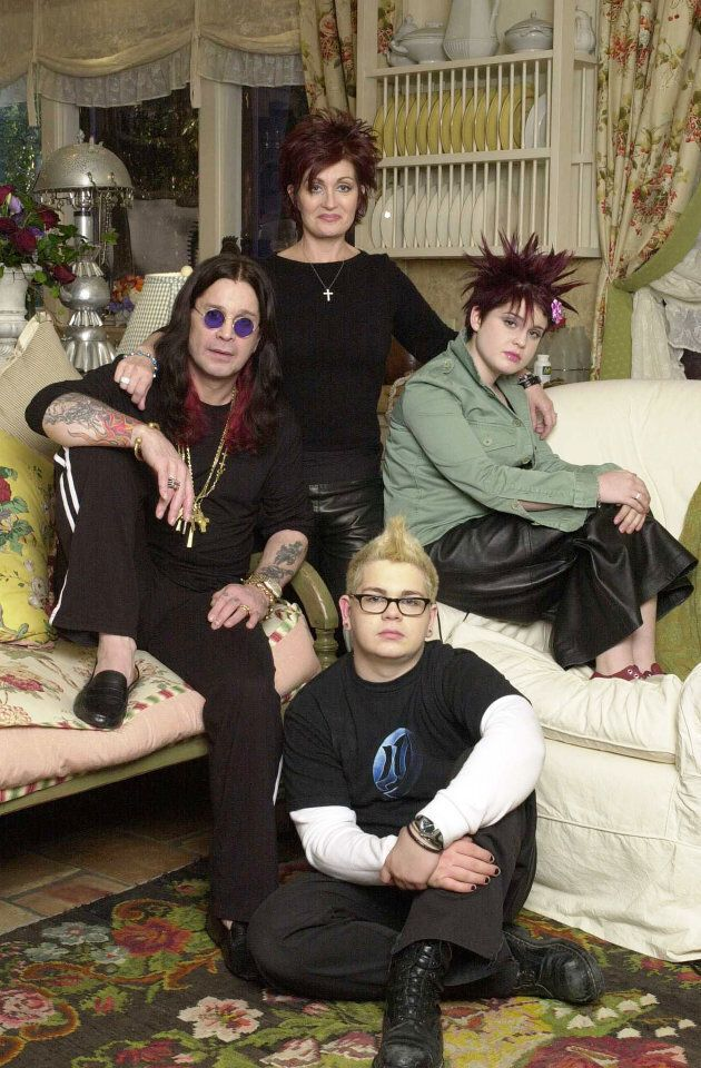 """Ozzy Osbourne and wife Sharon, kids Jack, and Kelly are shown in this undated photo. """"The Osbournes"""" premiered on March 5, 2002. MTV describes it as television's first """"reality sitcom."""""""