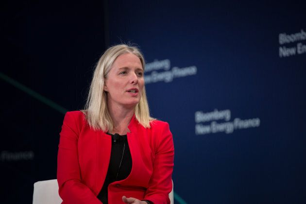 Environment Minister Catherine McKenna speaks on a panel during the BNEF Future of Energy Summit in New...