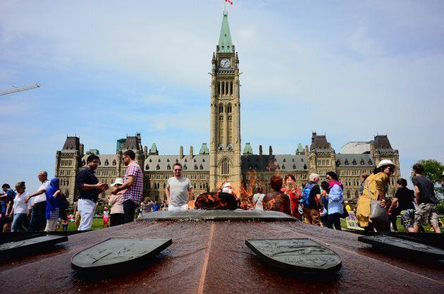 Parliament Hill in Canadian capital Ottawa on May 21,
