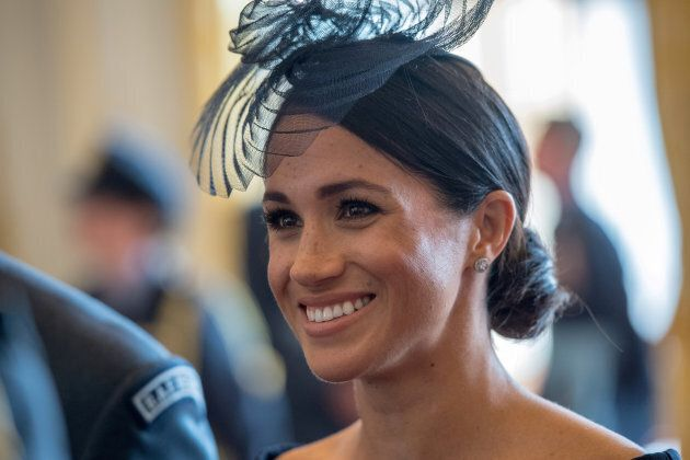 The Duchess of Sussex at a reception to mark the centenary of the RAF at Buckingham