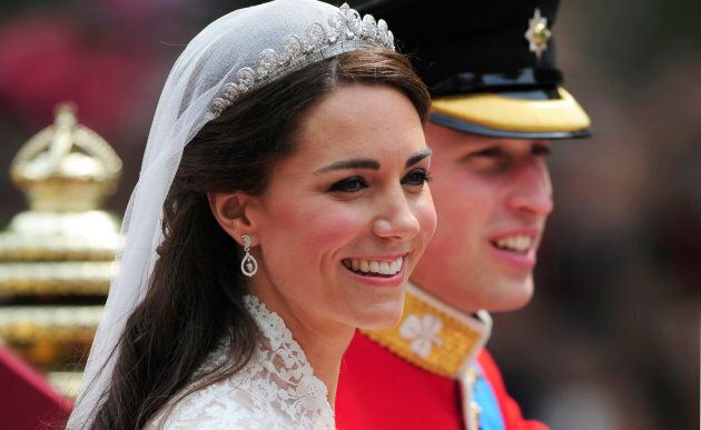 The Duchess of Cambridge at her wedding to Prince William on April 29,