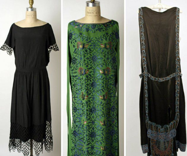 Boatneck dress designs by Lanvin and Callot