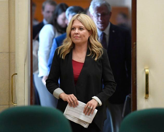 Conservative MP Michelle Rempel arrives for an emergency meeting of the Citizenship and Immigration Committee...