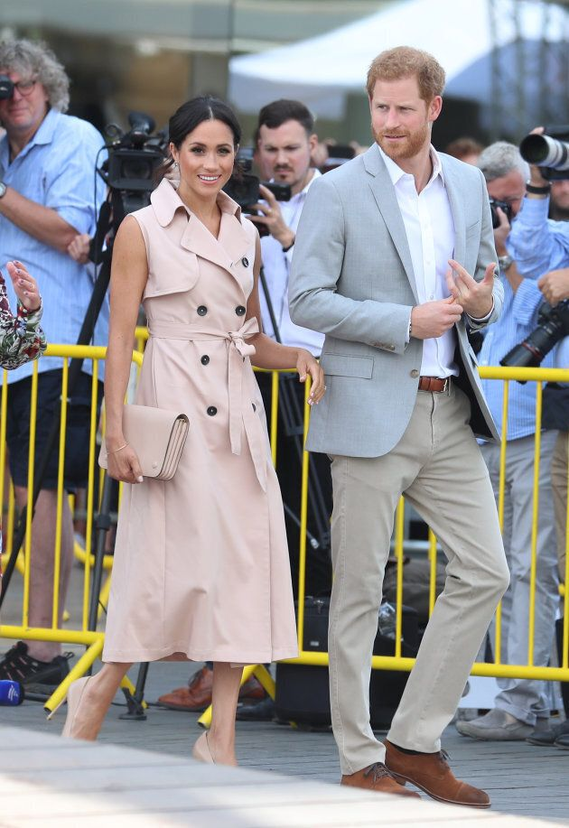 The Duke and Duchess of Sussex visit the Nelson Mandela Centenary Exhibition on July 17,
