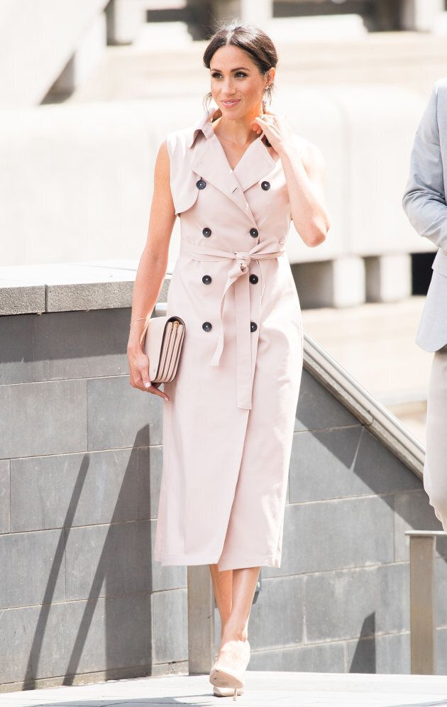 The Duchess of Sussex visits The Nelson Mandela Centenary Exhibition in London on July 17,