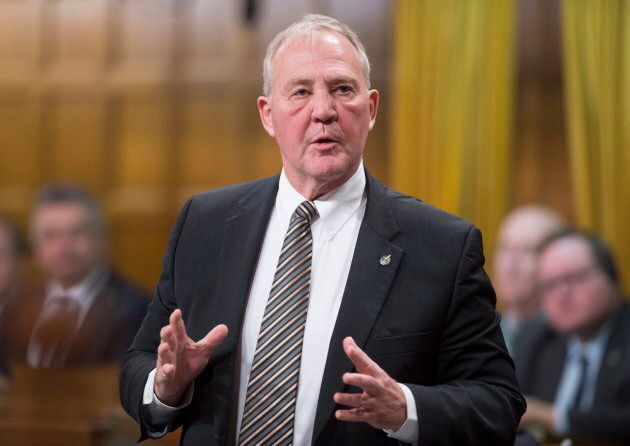 Liberal MP Bill Blair rises in the House of Commons in Ottawa on Dec. 11, 2017.