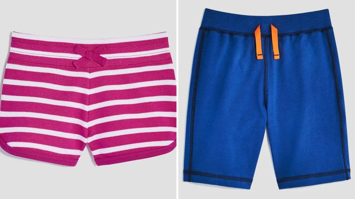 Toddler girl shorts and toddler boy shorts currently for sale at Joe Fresh.