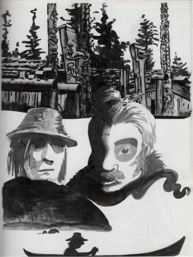 """The two shamans in the town of Sk'a.aaws. From """"A Tale of Two Shamans,"""" 2011."""
