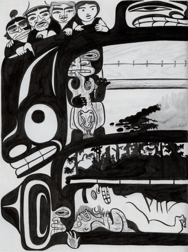 """The shaman's burial box. From """"A Tale of Two Shamans,"""" 2011."""