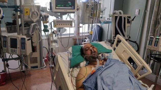 Muhammed Abu Marzouk is shown at St. Michael's Hospital following an attack in this recent handout