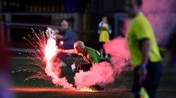 Toronto Soccer Fans Start Fire In Ottawa Stadium With Flares, Smoke