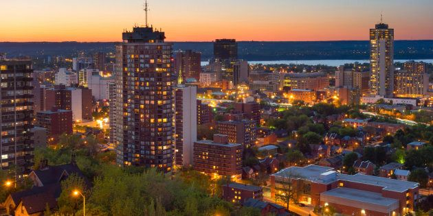 A view of downtown Hamilton, Ont., with Lake Ontario in the background. The city ranked third place in...