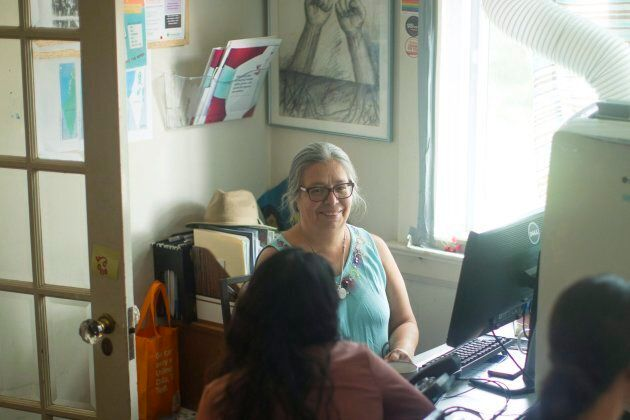 Loly Rico, the co-director of the FCJ Refugee Centre in Toronto, is pictured on July 12,