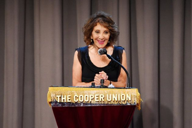 Andrea Martin performs at the Concert For America: Stand Up, Sing Out! at The Great Hall at Cooper Union...