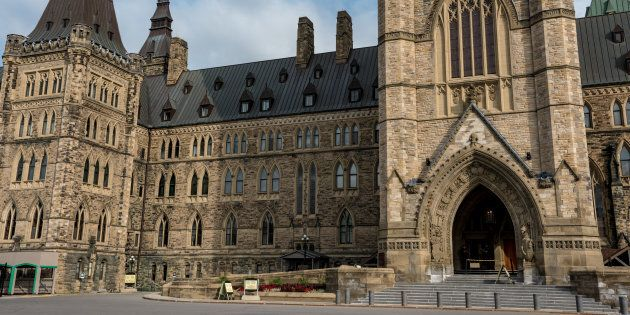 Canada's federal Parliament buildings is seen in Ottawa in a stock