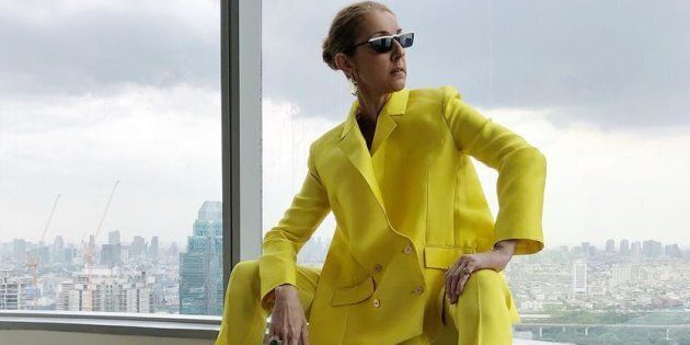 A photo of Céline Dion in a yellow Rabih Kayrouz pantsuit quickly went viral this